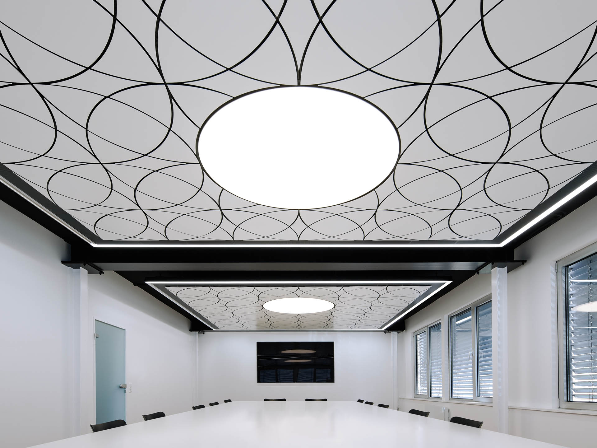 Fluid Design Ceiling With Flowing Shapes Durlum Gmbh
